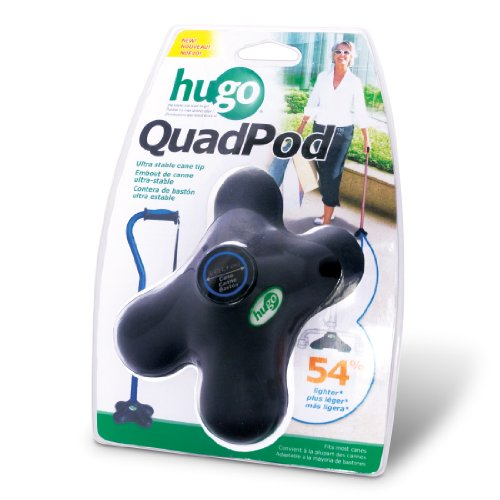 Hugo Mobility Quadpod Ultra Stable Cane Tip with Compact Quad Design, 3/4 Inches, -