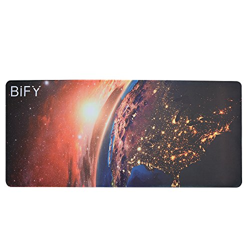 BIFY Extended Xxl Gaming Mouse Pad 900x400mm Water-Resistant Desk Mat Office Work Mat Support for Computer, PC and Laptop (Milky Way)