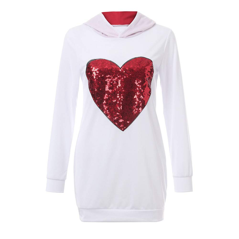 Mommy&Me Women Kids Lady Long Sleeves Heart Type Hooded Sweatshirt Family Clothes