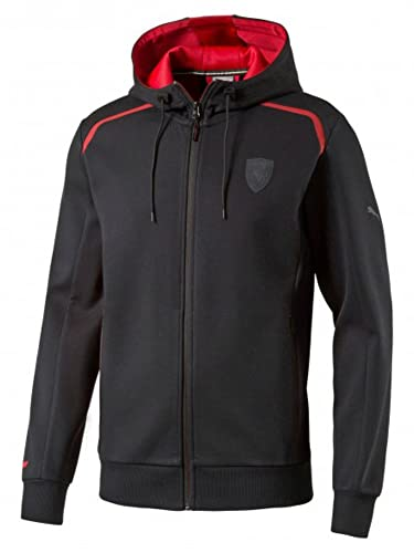 Amazon.com: Scuderia Ferrari Mens Formula 1 F1 Puma Black Hooded Track Sweat Jacket (Medium): Clothing
