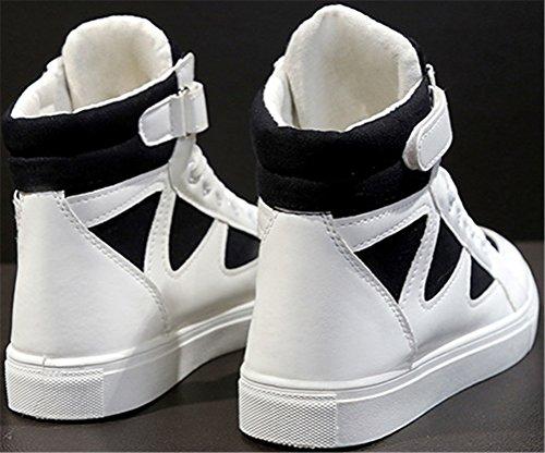 Scarpe Alte In Tela Satuki Per Donna Alte, Sneakers Casual Piatte E Confortevoli