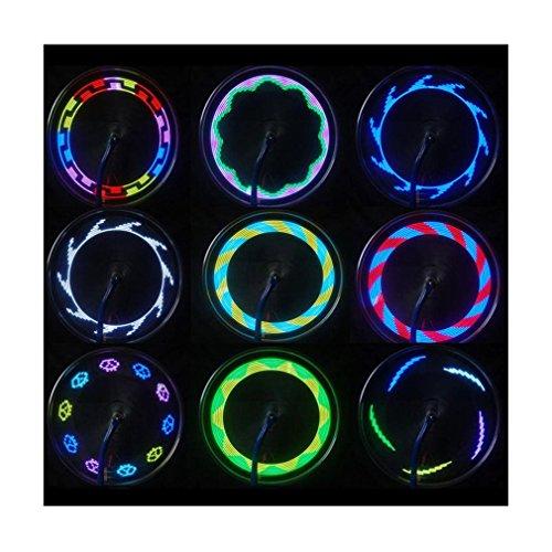 Iuhan® Fashion 14 LED Motorcycle Cycling Bicycle Bike Wheel Signal Tire Spoke Light 30 Changes