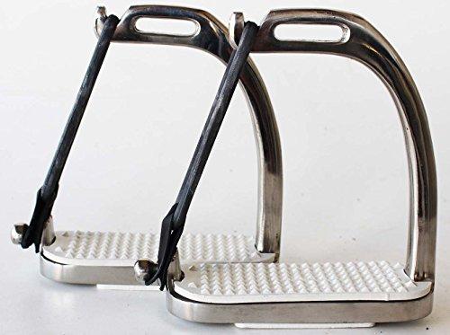 - ProRider Horse Saddle Adult Children English Safety Peacock Iron Stirrups 4 3/4