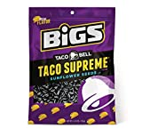 Taco Supreme is a Taco Bell fan favorite, and now you can enjoy the creamy, spicy taste you love—in BIGS Sunflower Seeds. These delicious seeds are perfect on the go, and provide a tasty snack that won't fill you up. Satisfy your Taco Bell cr...