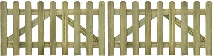 Cancela para cobertizos 2 unidades 300 x 80 cm madera impregnada.Questo Libro del Cancela Sono robusto y seguro Cancela Jardín Nice Puerta Puerta Jardín Garaje Exterior: Amazon.es: Bricolaje y herramientas