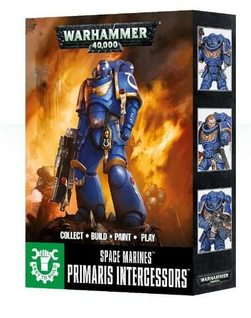 Warhammer 40k Easy to Build Space Marine Primaris Intercessors by Games Workshop