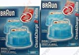 Braun CCR2 Cleaner Refill Kit 4 pack Clean & Re Shaver Cleaning Gel Packs