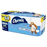 Charmin Ultra Soft Toilet Paper, 16 Mega Rolls (Equal to 64 Regular Rolls)