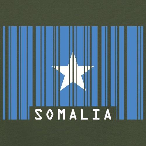 Somalia / Bundesrepublik Somalia Barcode Flagge - Herren T-Shirt - Olivgrün - XL