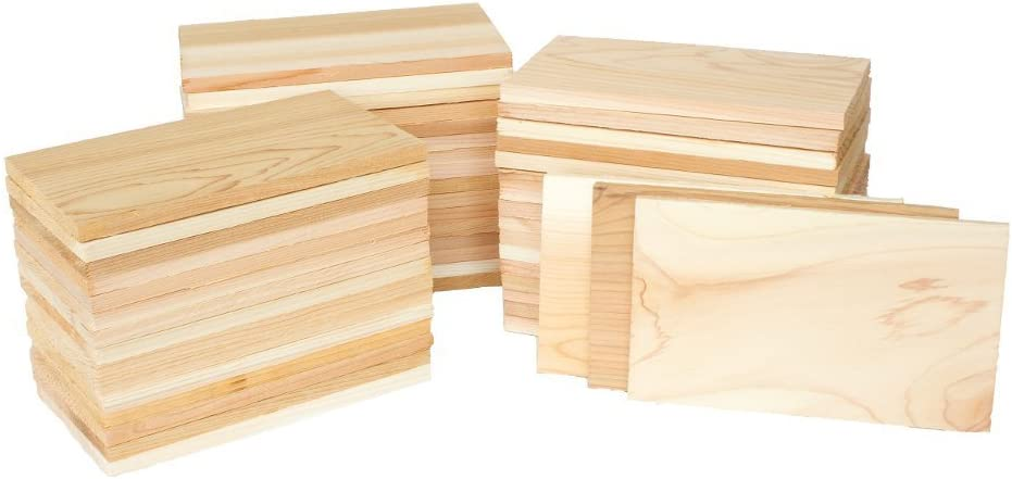 Case of 50 Small 3.5x7 Cedar Grilling Planks Plate Size - Restaurant Quantity: Garden & Outdoor