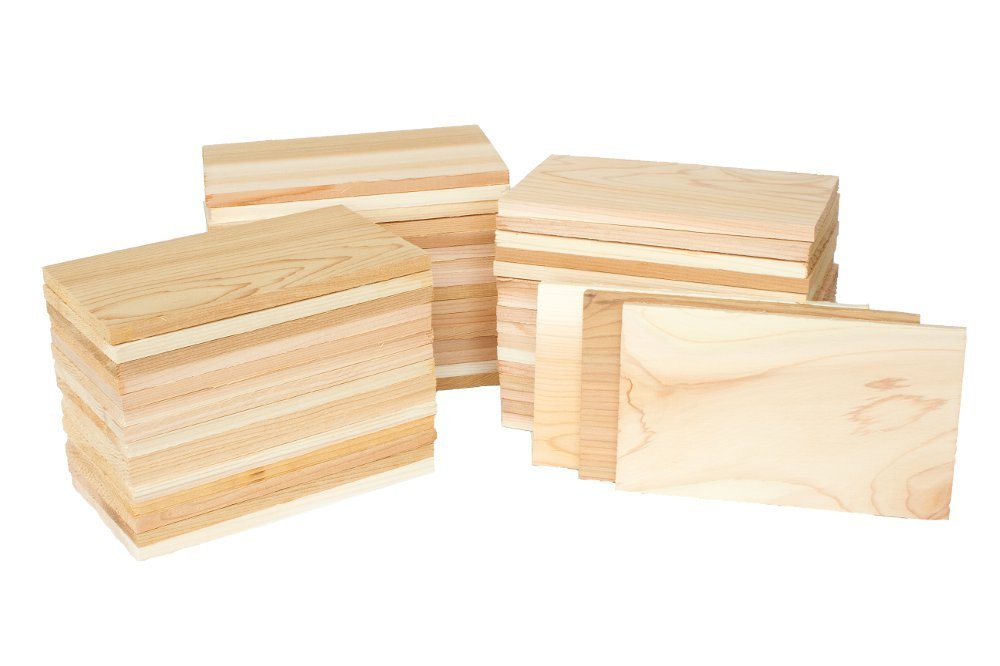 Case of 50 Small Cedar Grilling Planks Plate Size - Restaurant Quantity by Wood Fire Grilling Co.