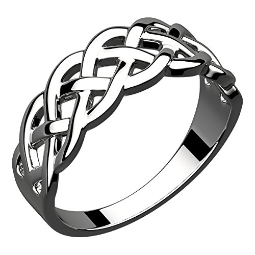 925 Silver Celtic Weave Ring - 925 Sterling Silver Celtic Knot Weave Ring (Weight 4 gms) - 5
