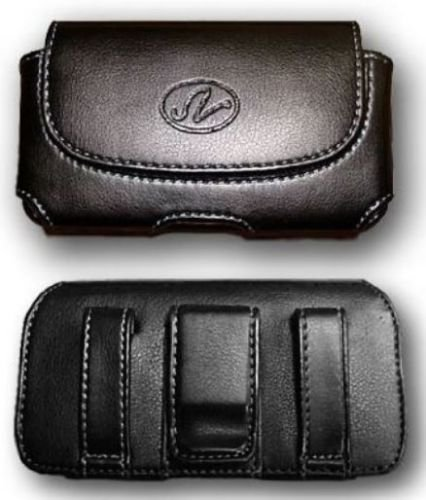 FYL Leather Case Pouch Holster for Virgin Mobile ZTE Awe N800, Cricket ZTE Sonata 2 (Virgin Mobile Zte N800)