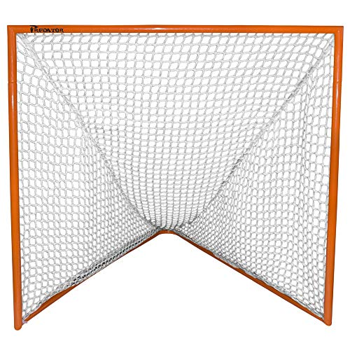 Predator Sports Deluxe High School Lacrosse Goal with 5mm Triple Stitched Net (White, 5mm)