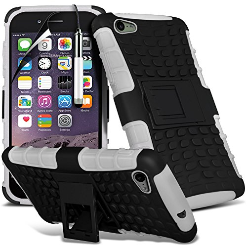 Spyrox ( White ) Apple iPhone 6S Plus étui Stylish Fitted Robuste Preuve Survivor dur Rugged Shock Heavy Duty Case W / Retour stand, écran LCD Protecteur, Chiffon & Mini Stylet rétractable
