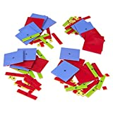 ETA hand2mind Printed Plastic Algebra Tiles, Set of 15