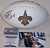 #3: Drew Brees Autographed Hand Signed New Orleans Saints Logo Full Size Football - BAS Beckett