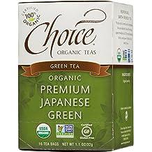 Choice Organic Teas Green Tea, Premium Japanese Green, 16 Count