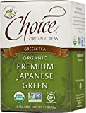 Choice Organic Teas Green Tea, Premium Japanese Green, 16 Count, Pack of 6
