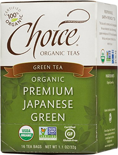 (Choice Organic Teas Green Tea, 16 Tea Bags, Premium Japanese Green )