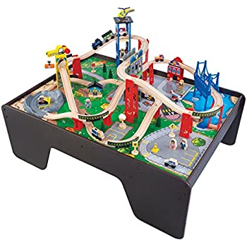 KidKraft Super Expressway Train Set u0026 Table  sc 1 st  Amazon.com & Amazon.com: KidKraft Super Expressway Train Set u0026 Table: Toys u0026 Games