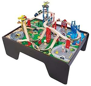 Share Facebook Twitter Pinterest 90+ Shares  sc 1 st  Amazon.com & Amazon.com: KidKraft Super Expressway Train Set \u0026 Table: Toys \u0026 Games