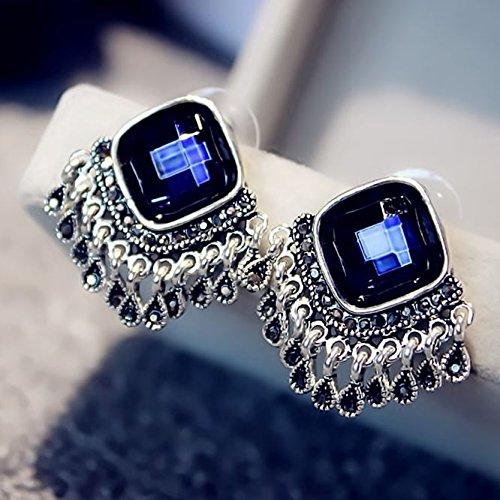 temperament crystal diamond drop earrings earrings retro personality women girls short paragraph fashion earrings Korea earrings ()