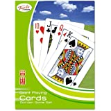 GIANT A3 LARGE 52 PLAYING CARDS 37CM FULL DECK MAGIC GARDEN OUTDOOR FAMILY PLAY