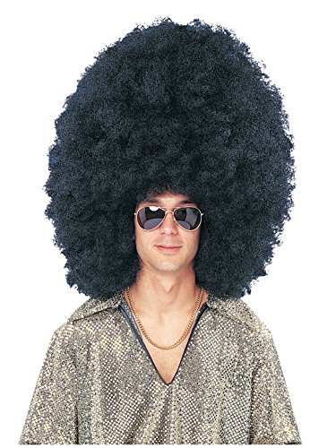 Costume Culture Men's Super Size Afro Wig Deluxe, Black, One -