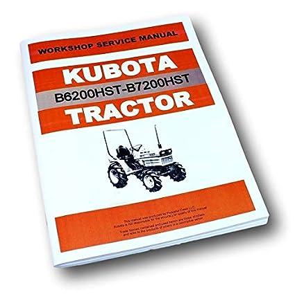 Amazon.com: Kubota B6200Hst B7200Hst Tractor Hydro ...