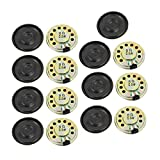 uxcell 15Pcs 28mm Dia 8 Ohm 0.5W Metal Shell Round Internal Mini Magnetic Loudspeaker for Voice Toy