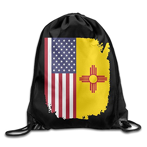 American New Mexico Flag Drawstring Backpack Beam Mouth School Travel Backpack Shoulder Bags For Men And Women from 05_&_NG