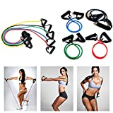 Kasstino 1x Yoga Resistance Band Elastic String Slim Fitness Exercise Latex Tube Workout