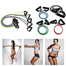Kasstino 1x Yoga Resistance Band Elastic String Slim Fitness Exercise Latex Tube Workout