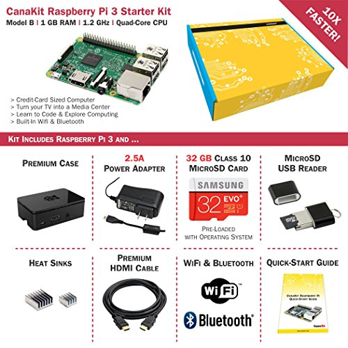 CanaKit Raspberry Pi 3 Complete Starter Kit - Includes 32 GB Samsung EVO+ by CanaKit (Image #1)