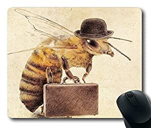 """Worker Bee Durable Rubber Customized Mousepad Rectangle Mouse Pad 220mm*180mm*3mm (9""""*7"""") -WS82254"""
