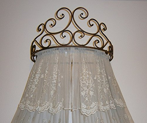 Amazon.com Metal Crown Wall Sculptures Teester Bed Canopy Drapery Hardware Over Bed or Window (Cherry(24.75 wx16.75 dx11 h.)) Home u0026 Kitchen & Amazon.com: Metal Crown Wall Sculptures Teester Bed Canopy Drapery ...
