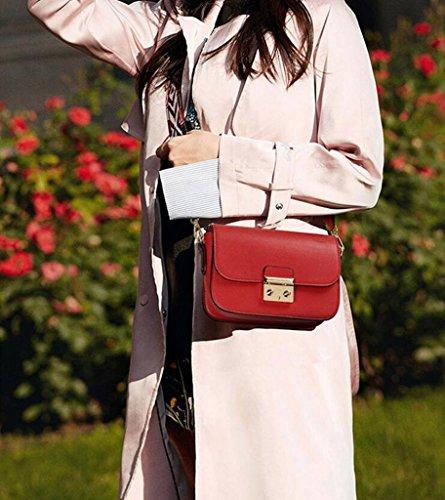 de Fashion Hand Hombro GKKXUE de Party Rojo Bolsos Sling Color Double Verde Shoulder Sra Mujer Bolsos Bags Bags fxq5HwSOx