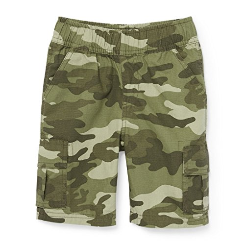 The Children's Place Big Boys' Pull on Cargo Short, Olive Camo 4137, 10 by The Children's Place (Image #1)