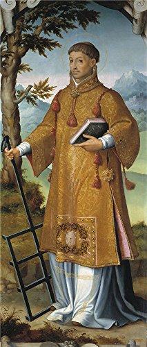 Oil Painting 'Correa De Vivar Juan Saint Laurence Saint Hilary 1559 ' Printing On Polyster Canvas , 24 X 56 Inch / 61 X 143 Cm ,the Best Kids Room (Algebra 1 Halloween Activities)