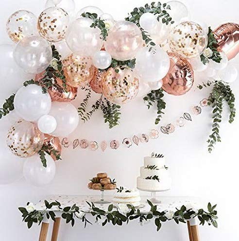 Gatton DIY Rose Gold Balloons Garland Kit 70pcs Latex, used for sale  Delivered anywhere in USA