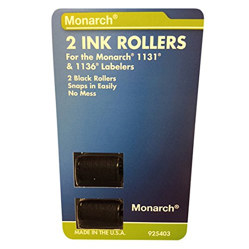 Price comparison product image Monarch Replacement Ink Rollers for 1131/1136 Pricing Labelers, Black, 2 per Pack (925403)