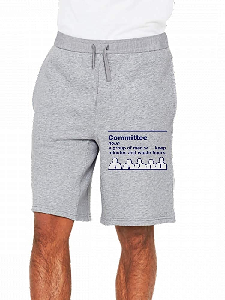 JiJingHeWang Committee 1 Mens Casual Shorts Pants