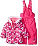 Wippette Baby Girls' Flower Print Snowsuit, Pink Glow, 18 Months