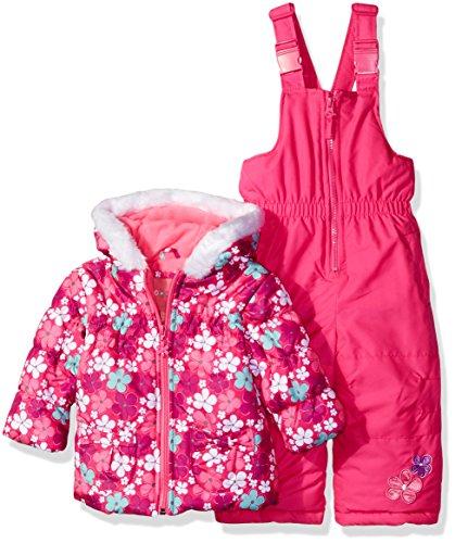 Wippette Girls' Baby Flower Print Snowsuit