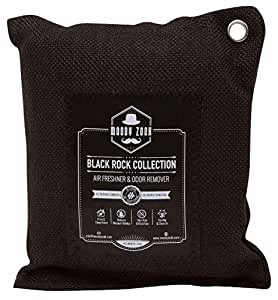 Activated Charcoal Odor Eliminator 200g Bag By Moody Zook - Use Powerful Natural Activated Carbon to Keep Your Home Fresh and Healthy - Deodorizer, Car Air Freshener, Pet Smell Remover (8 cm x 6 cm)