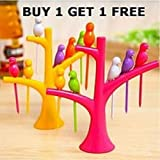 Fancy Bird Fruit Fork Buy 1 Get 1 Free Multicolour