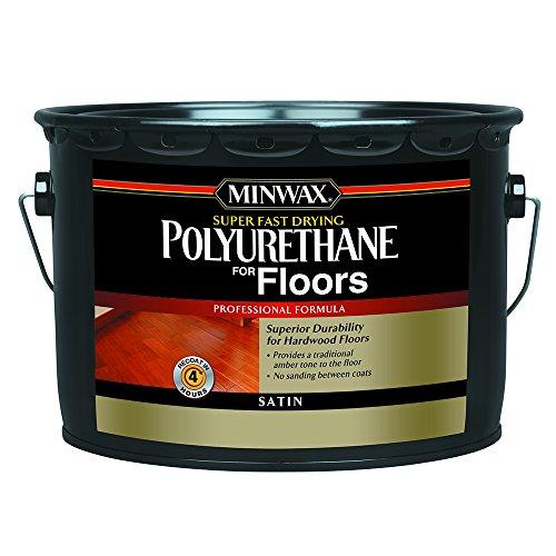 (Minwax 130320000 Super Fast-Drying Polyurethane For Floors, 2.5 gallon, Satin)