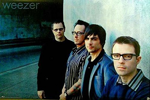 Weezer Group Against Wall Music Poster Print