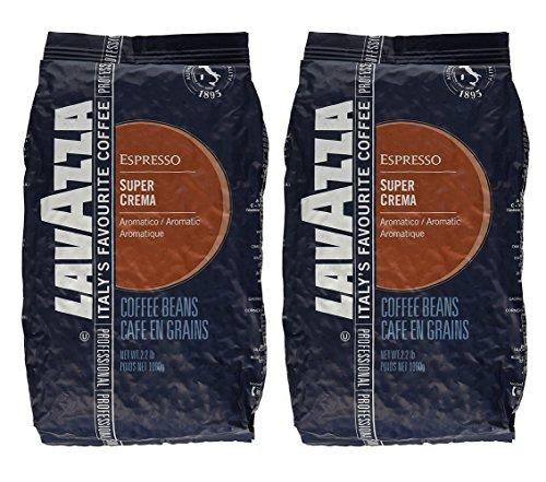 Lavazza 4202A 2.2 Pound Super Crema Espresso Whole Bean (Pack of (Bean Machine)